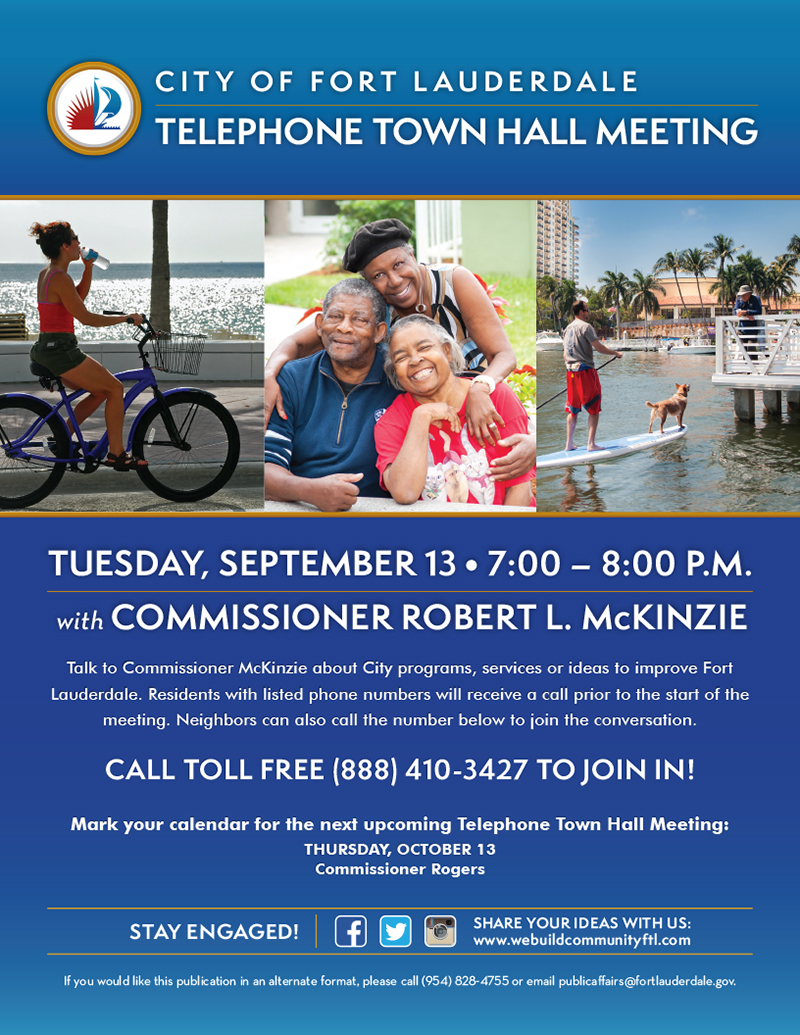McKinzie Telephone Town Hall Meeting