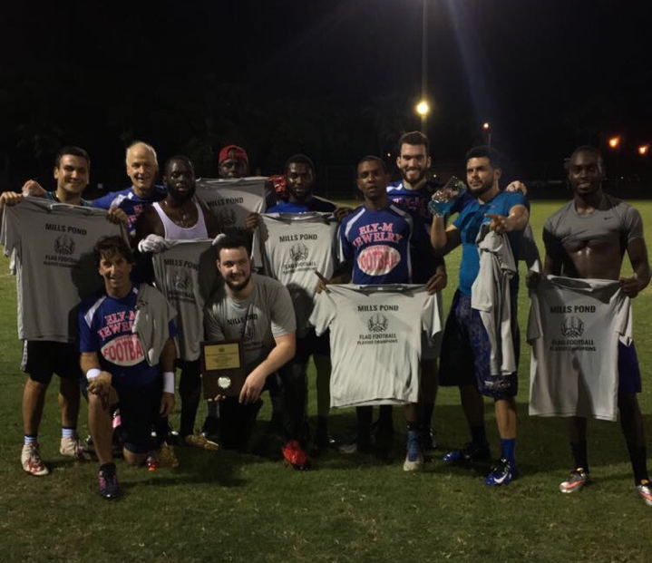 adult flag football champion mills pond park