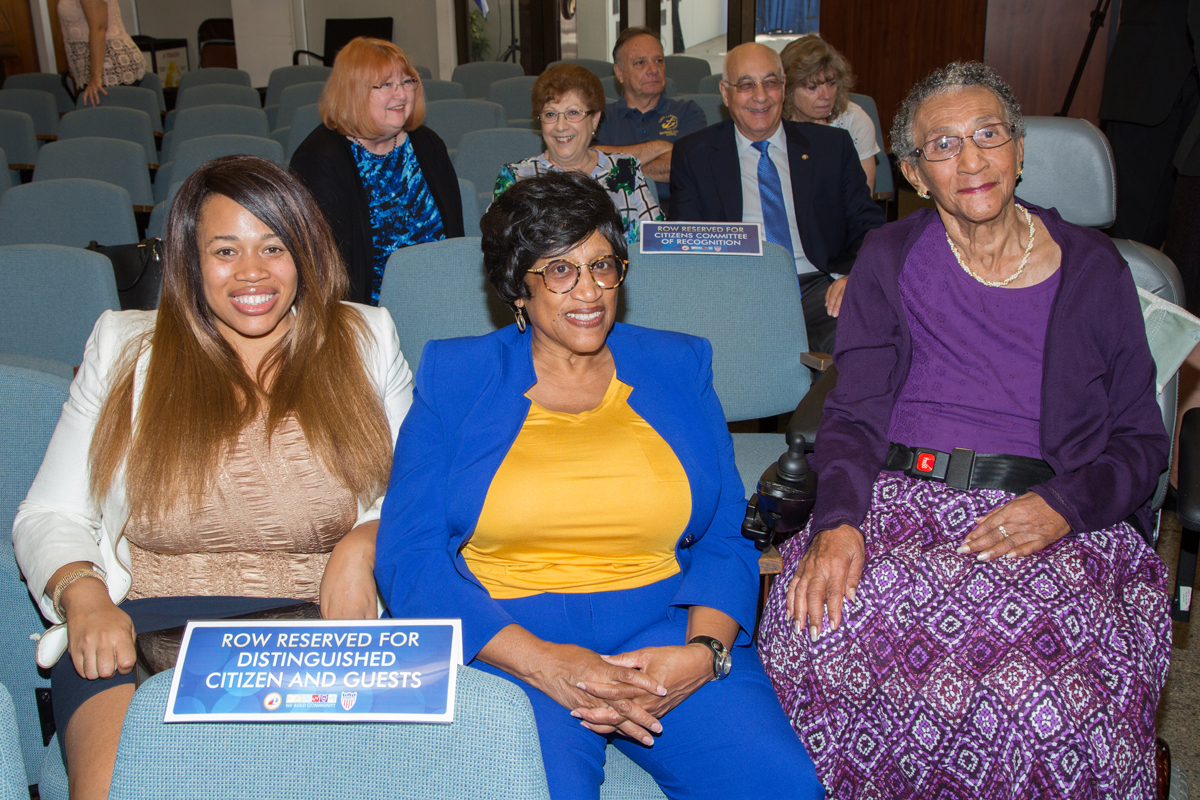 Exemplary Former City Employee Ada Bradley Moore with family
