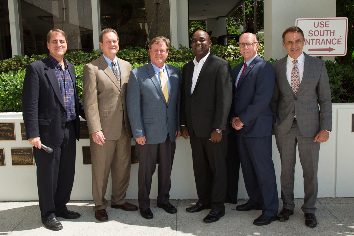 Distinguished Citizen Michael C. Weymouth with Fort Lauderdale City Commission