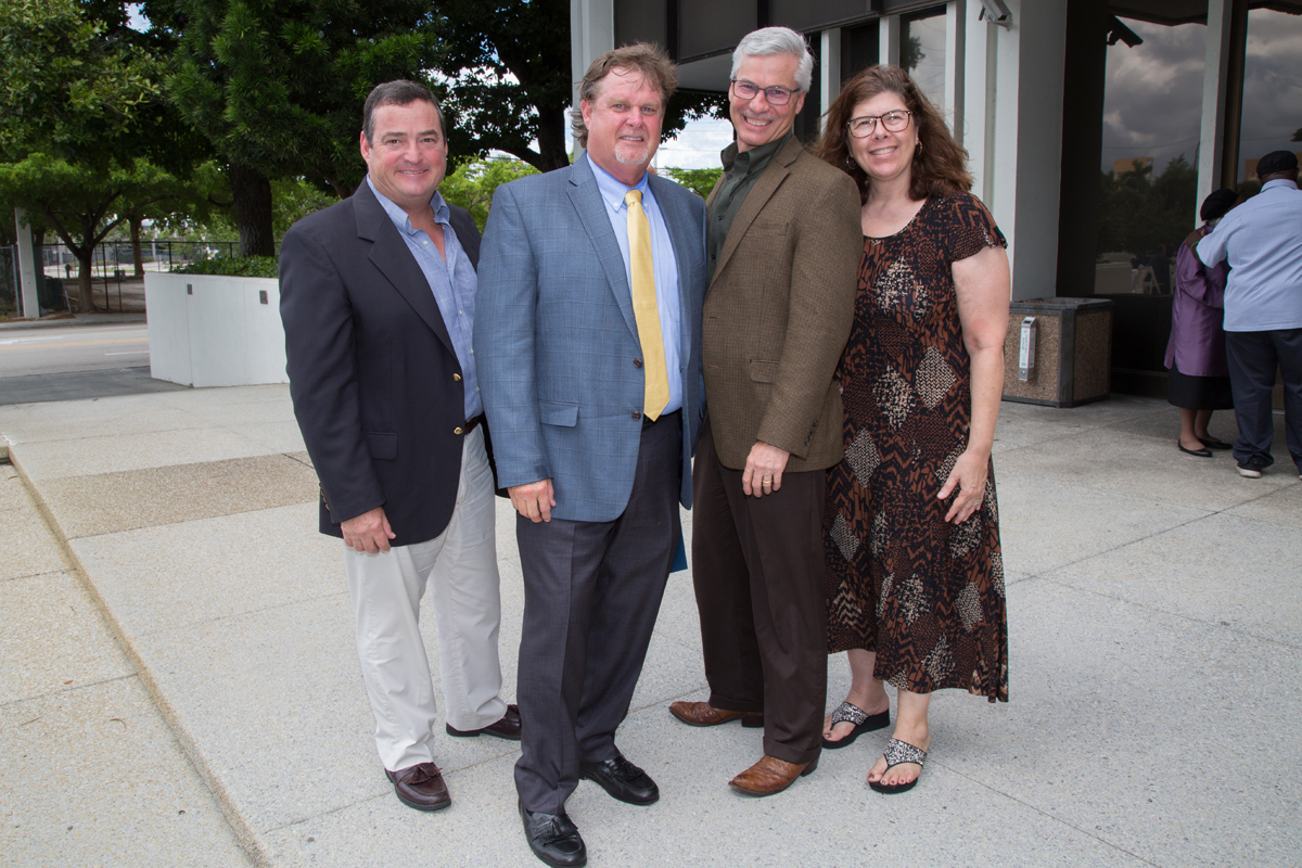 Distinguished Citizen Michael C. Weymouth with friends and family