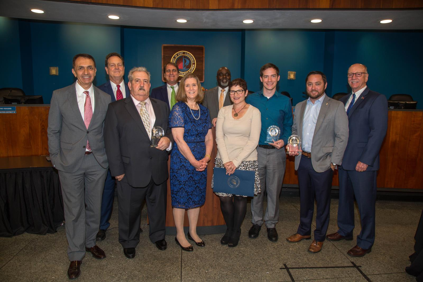 Fort Lauderdale City Commission with the 2017 Citizens Recognition Awards honorees