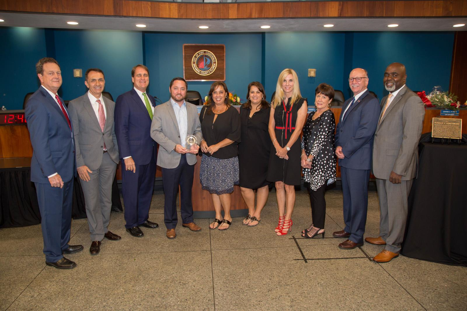 Fort Lauderdale City Commission with family and friends of the 2017 Honored Founder Terry Stiles
