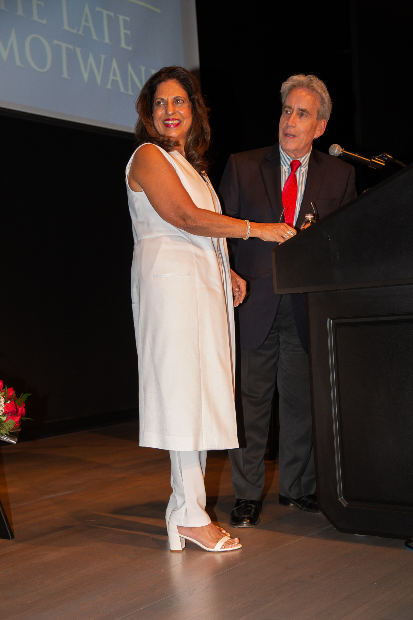 District II Commissioner Steve Glassman with 2018 Honored Founder Ramola Motwani