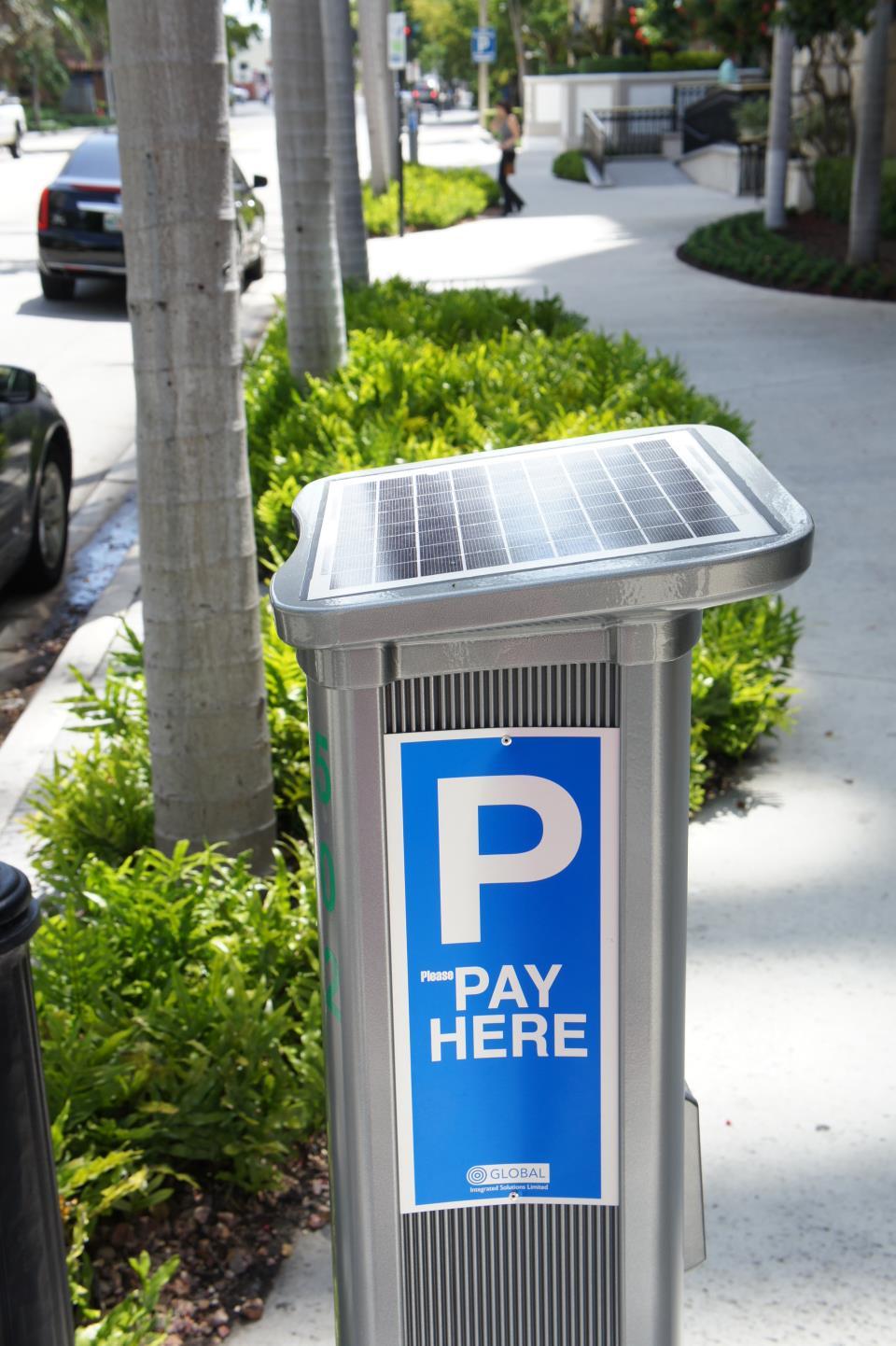 Solar Parking Meter Las Olas South side