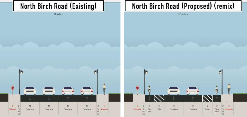 birch rd existing and proposed