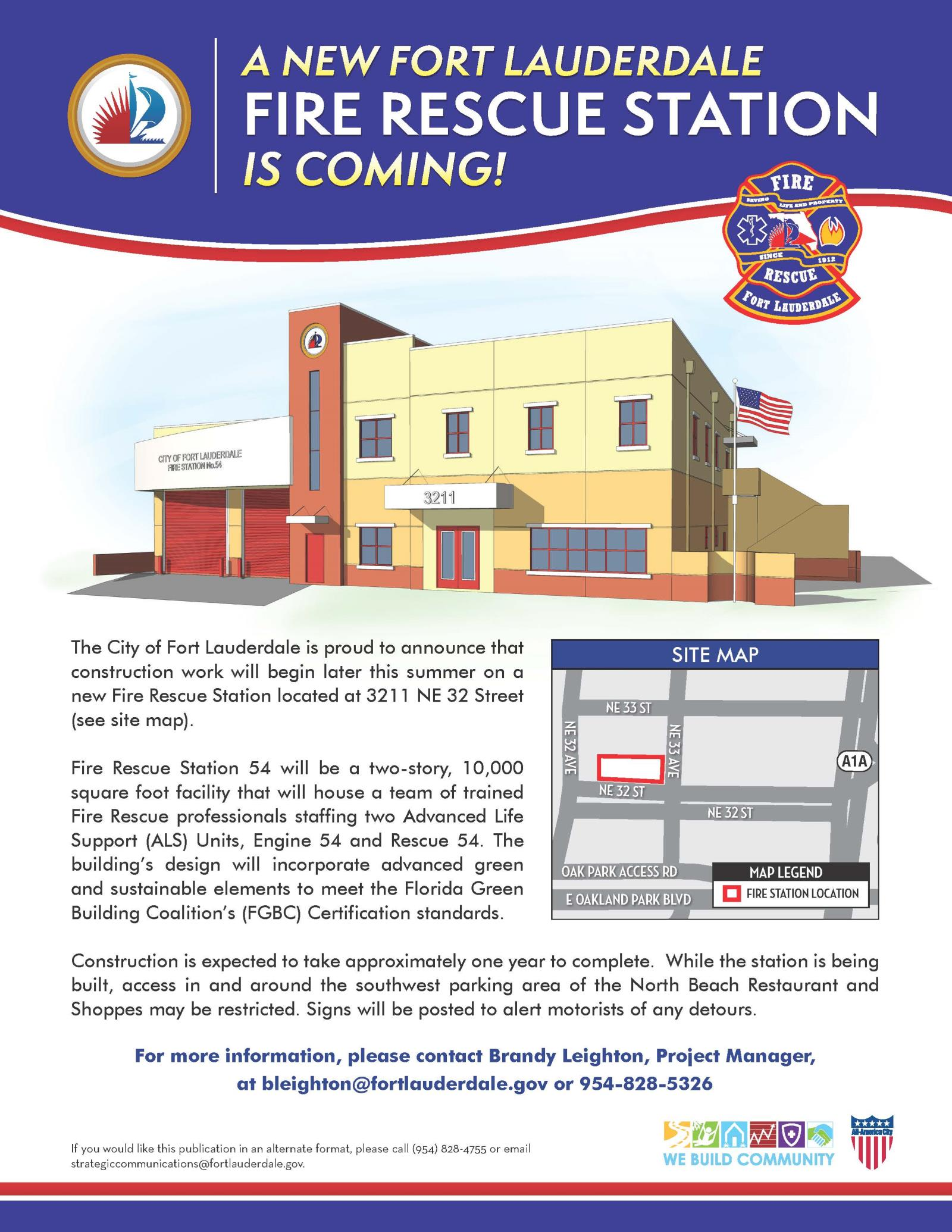 City of fort lauderdale fl fire rescue station 54 station 54 construction flyer geenschuldenfo Images