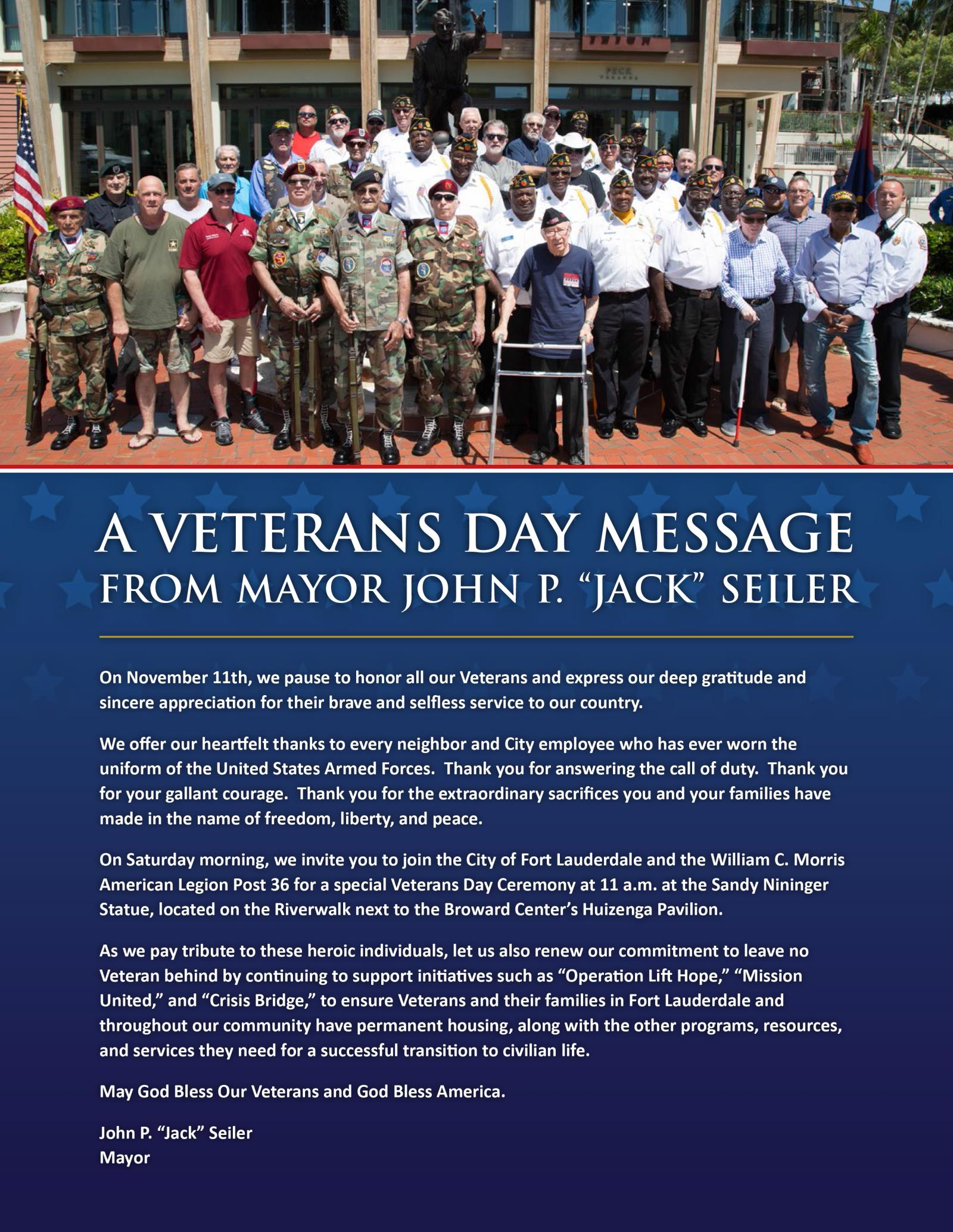 A Veterans Day Message-1