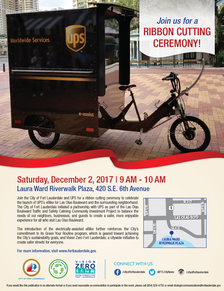 4221 UPS FTL eBike Ribbon Cutting Ceremony_Flyer_Final