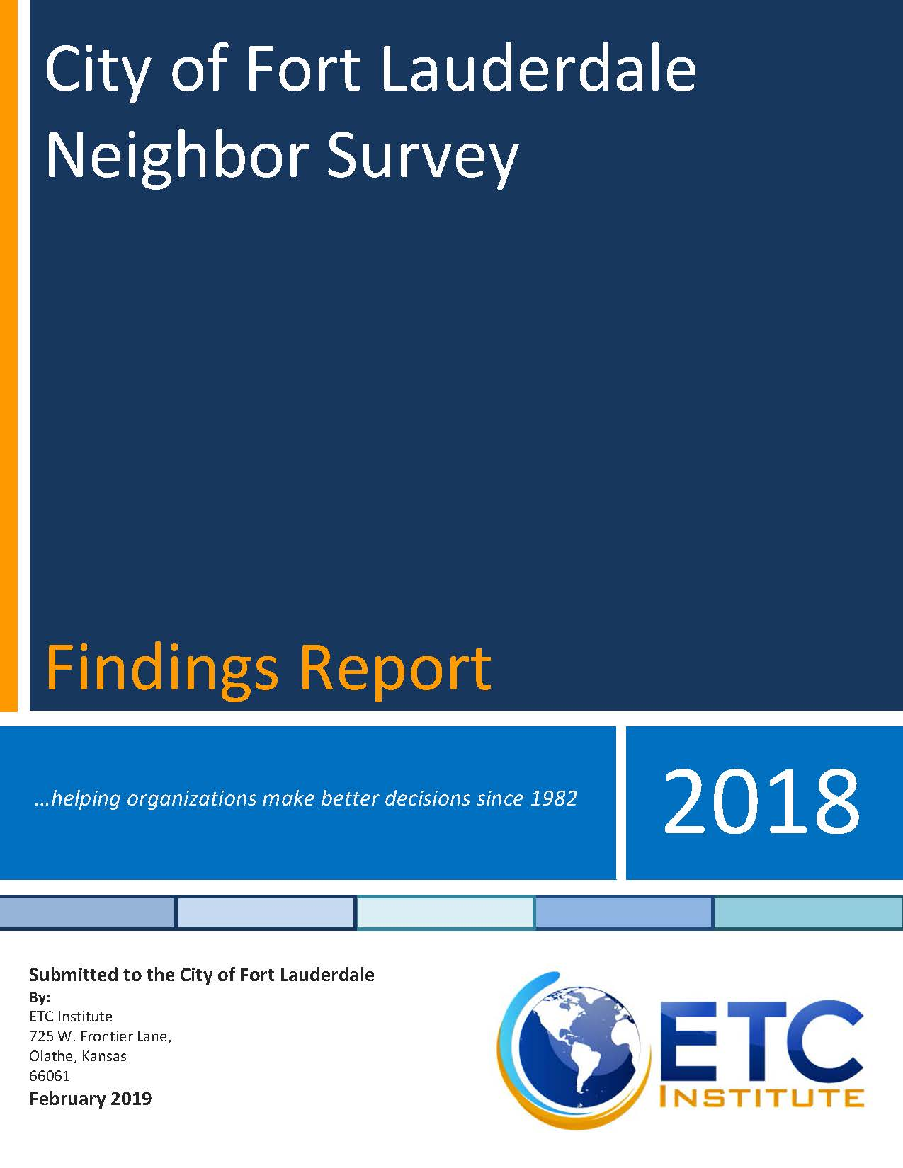 2018 City of Fort Lauderdale Neighbor Survey