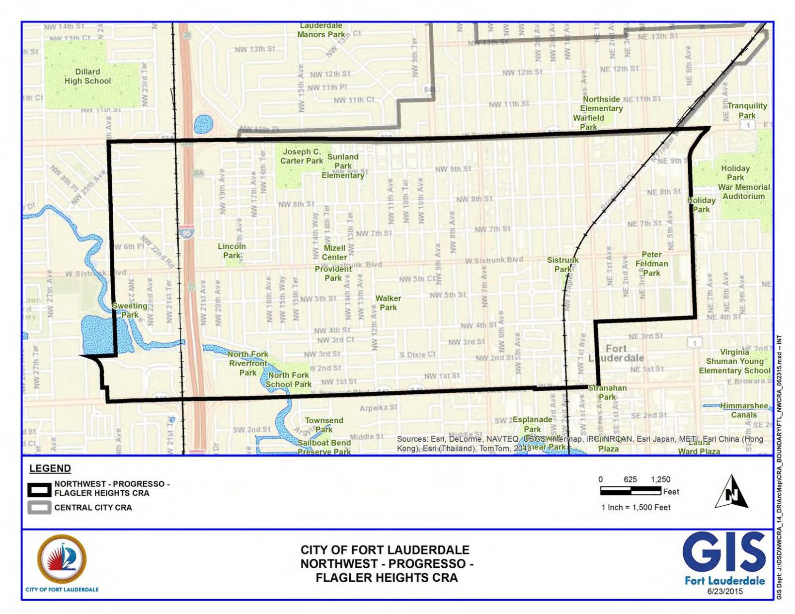 Map Of Fort Lauderdale Florida.City Of Fort Lauderdale Fl Npf Cra Boundary Map