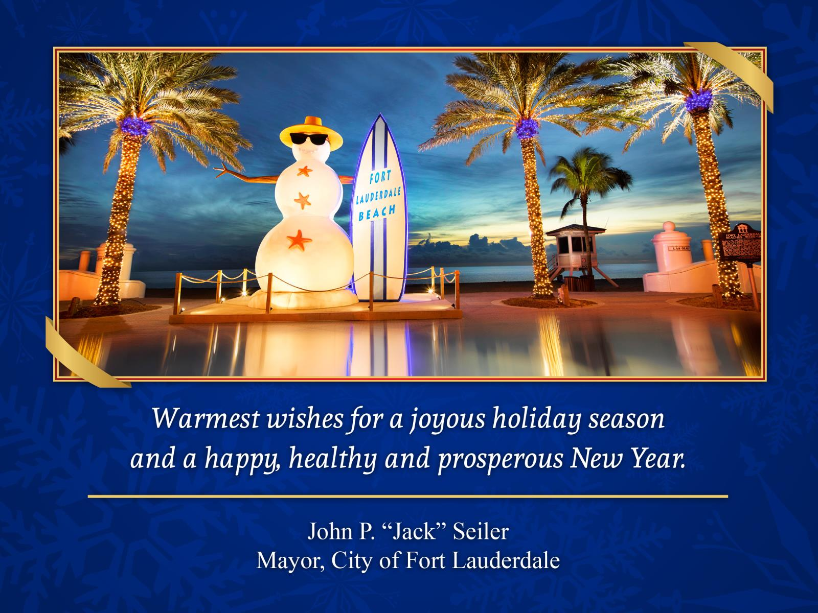 City Of Fort Lauderdale Fl City News Holiday Greetings From