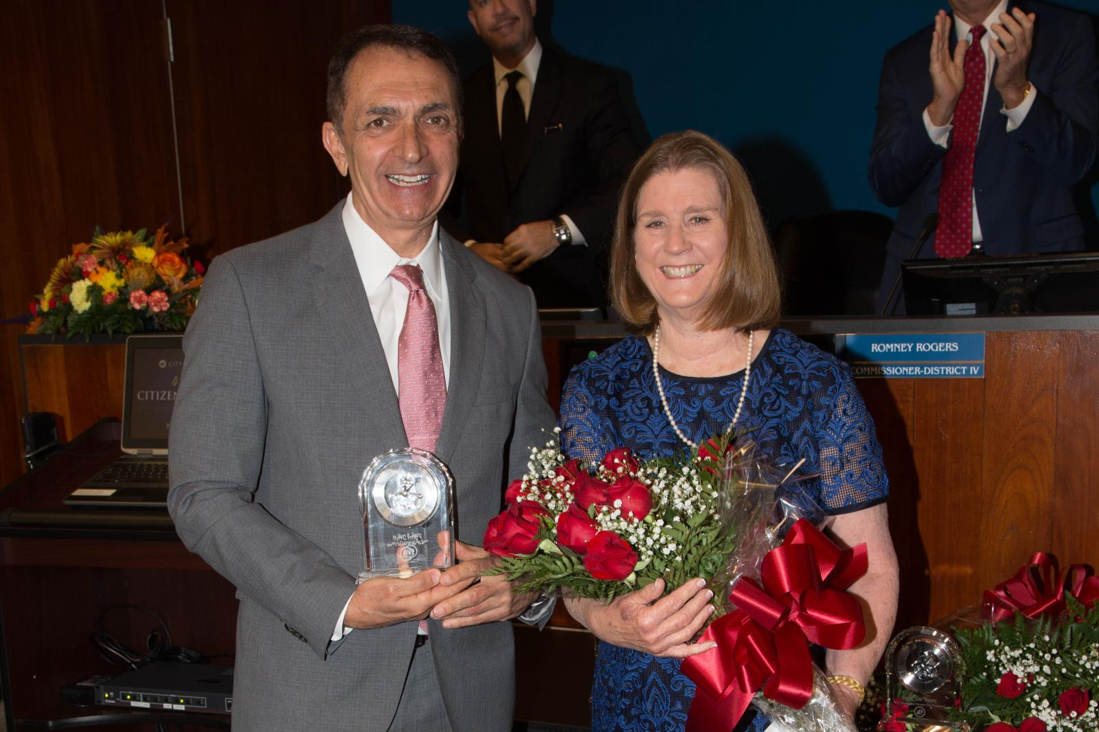 Commissioner Trantalis and Citizen of the Year Mary Fertig