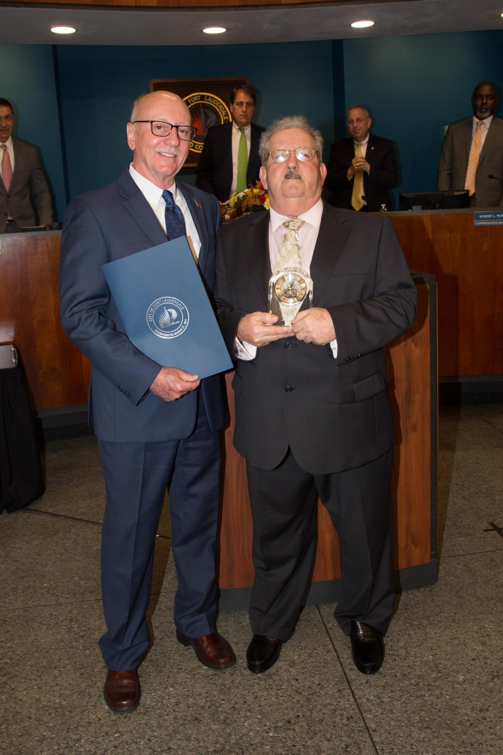 Vice Mayor Roberts with 2017 Distinguished Citizen Ronald J. Centamore