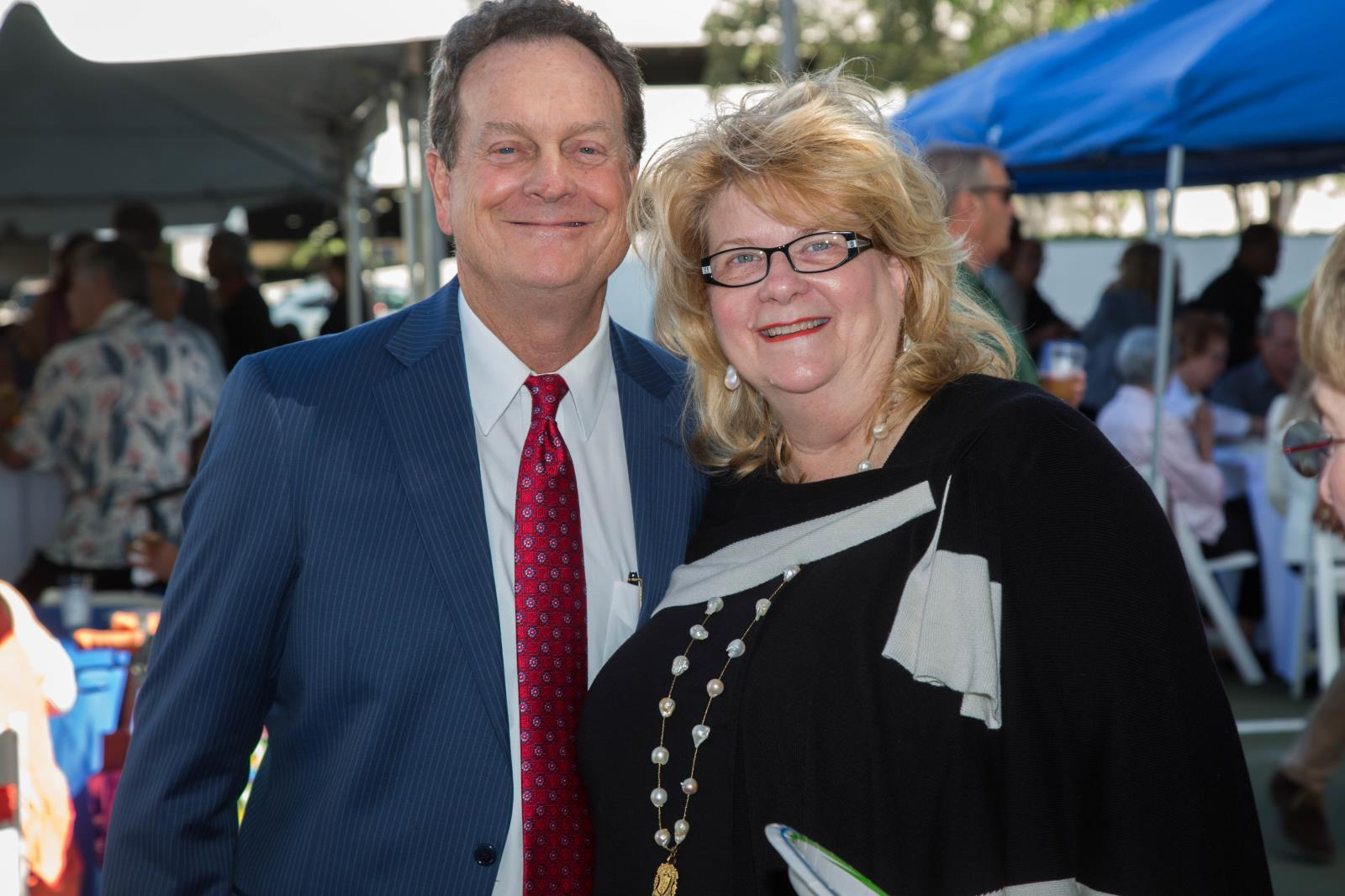 District 4 Commissioner Romney Rogers and wife Candace