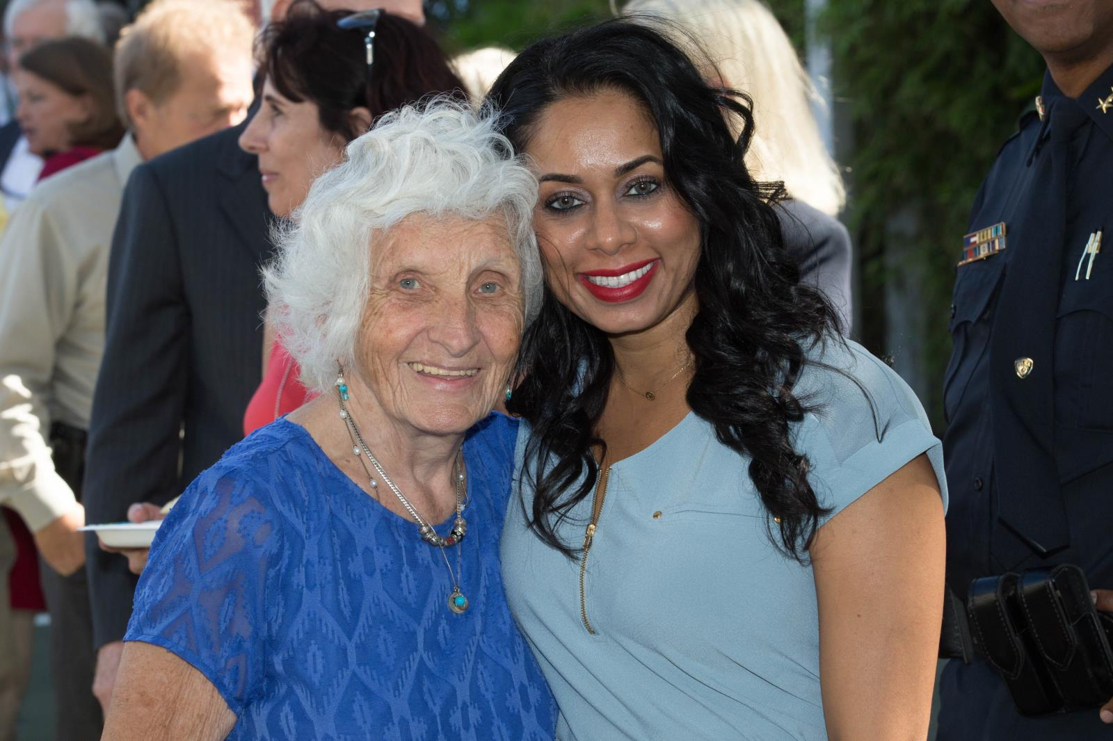 2013 Distinguished Citizen Betty Shelley with Safeea Ali