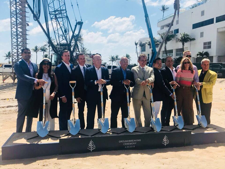 Four Season Hotel and Resort on Fort Lauderdale Beach Groundbreaking Ceremony.