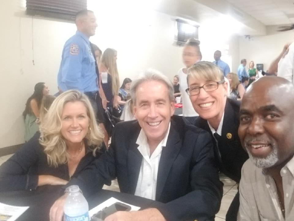 Fort Lauderdale Fire-Rescue's 2018 Medals Day Award Ceremony at the Fort Lauderdale Firefighters Benevolent Hall with Commissioners Moraitis and McKinzie.