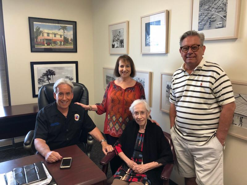 Office visit with Commissioner Glassman's family.