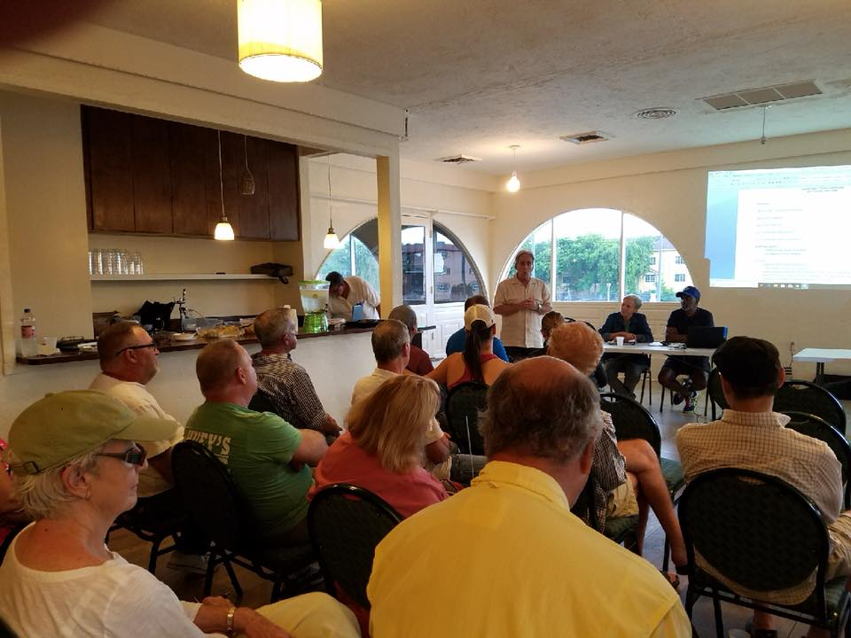 Commissioner Glassman addressing the South Middle River Civic Association.