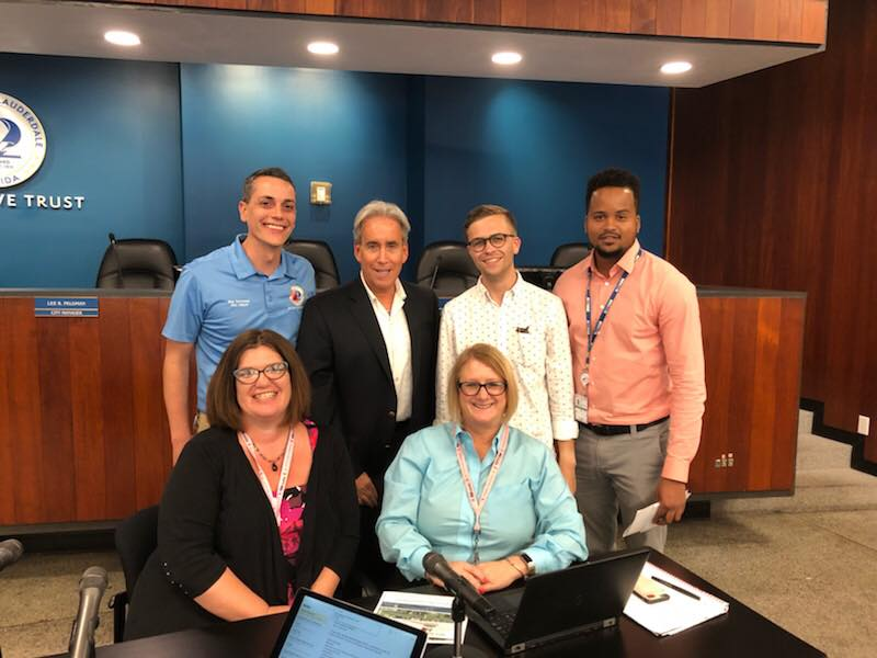 Commissioner Glassman, Vice Mayor Sorensen and TAM Staff after the Las Olas Mobility Meeting.