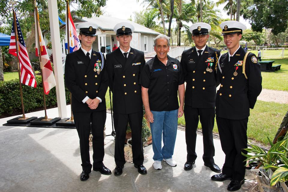 Old Dixie Highway Complete Streets: Fort Lauderdale High School NJROTC Color Guard Members.