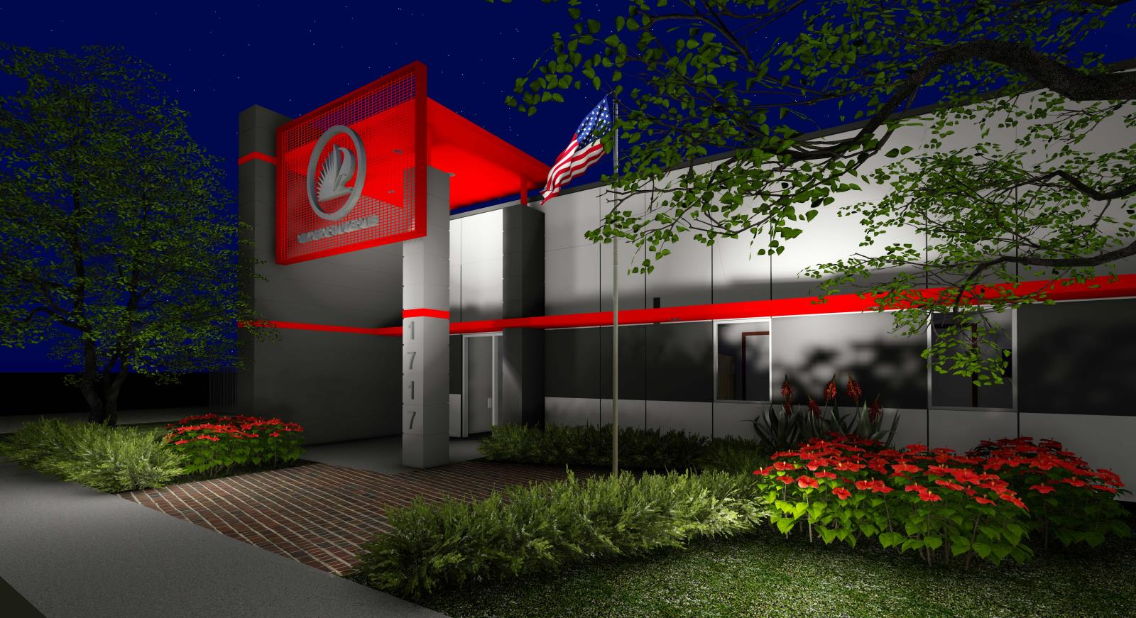 Rendering of Fire Rescue Station 8