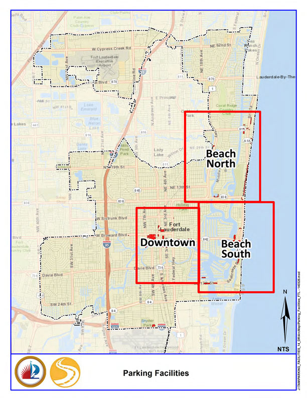 Map Of Fort Lauderdale Florida.City Of Fort Lauderdale Fl City Public Parking Locations