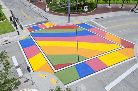 city of fort lauderdale fl painted intersections