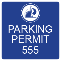 3991 Blue Employee Parking Decal