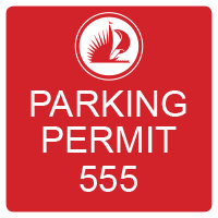 3991 Red Employee Parking Decal