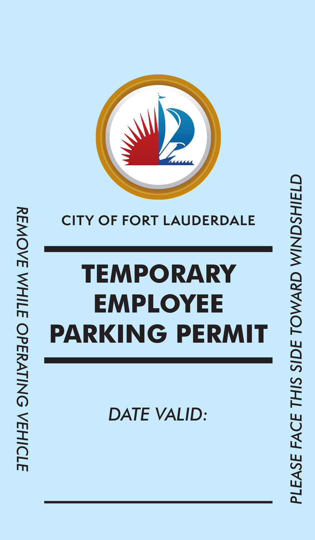 0384 TAM Temp Parking Pass
