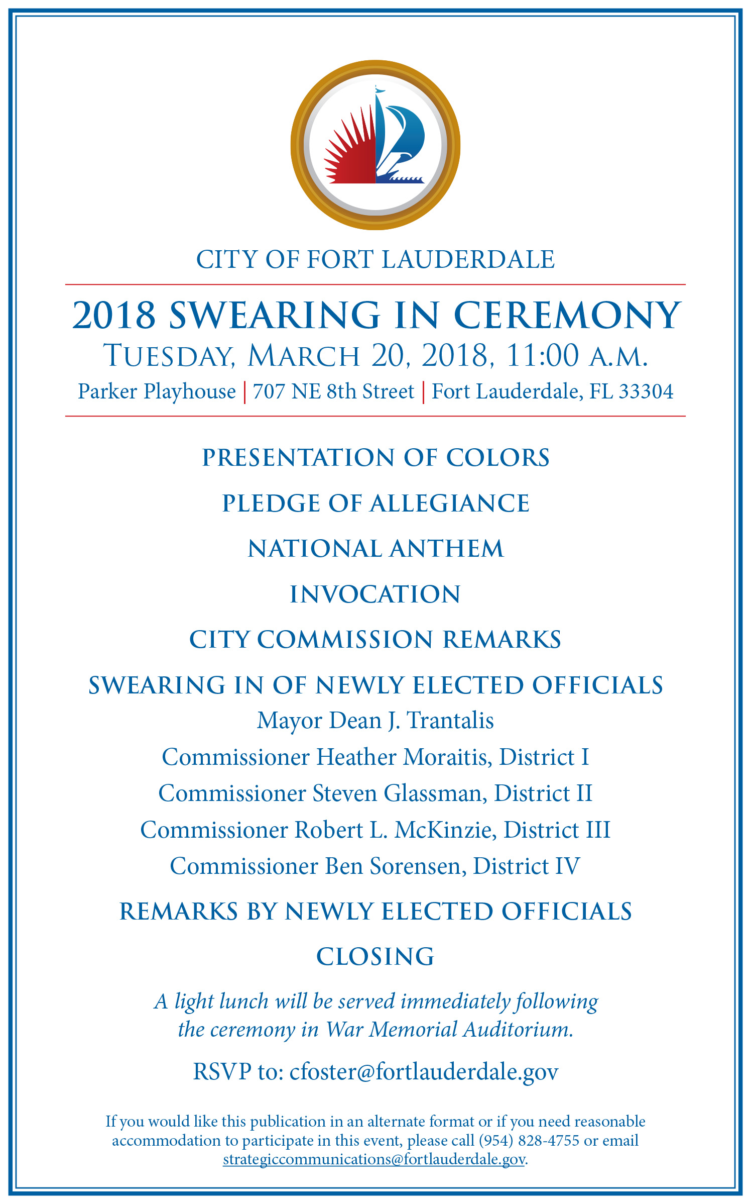 Ceremony For Newly Elected Officials