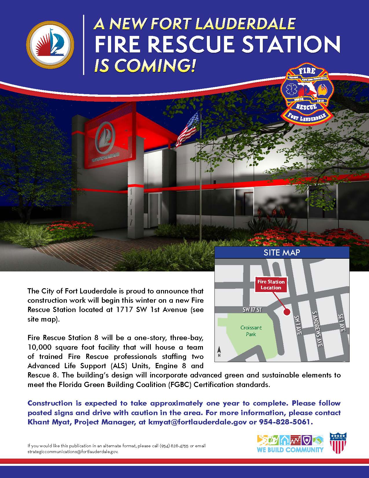 Fire Station 8 Construction Flyer
