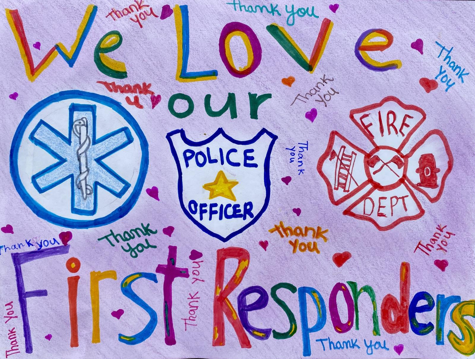 Annabella Wilkinson Thank You First Responders