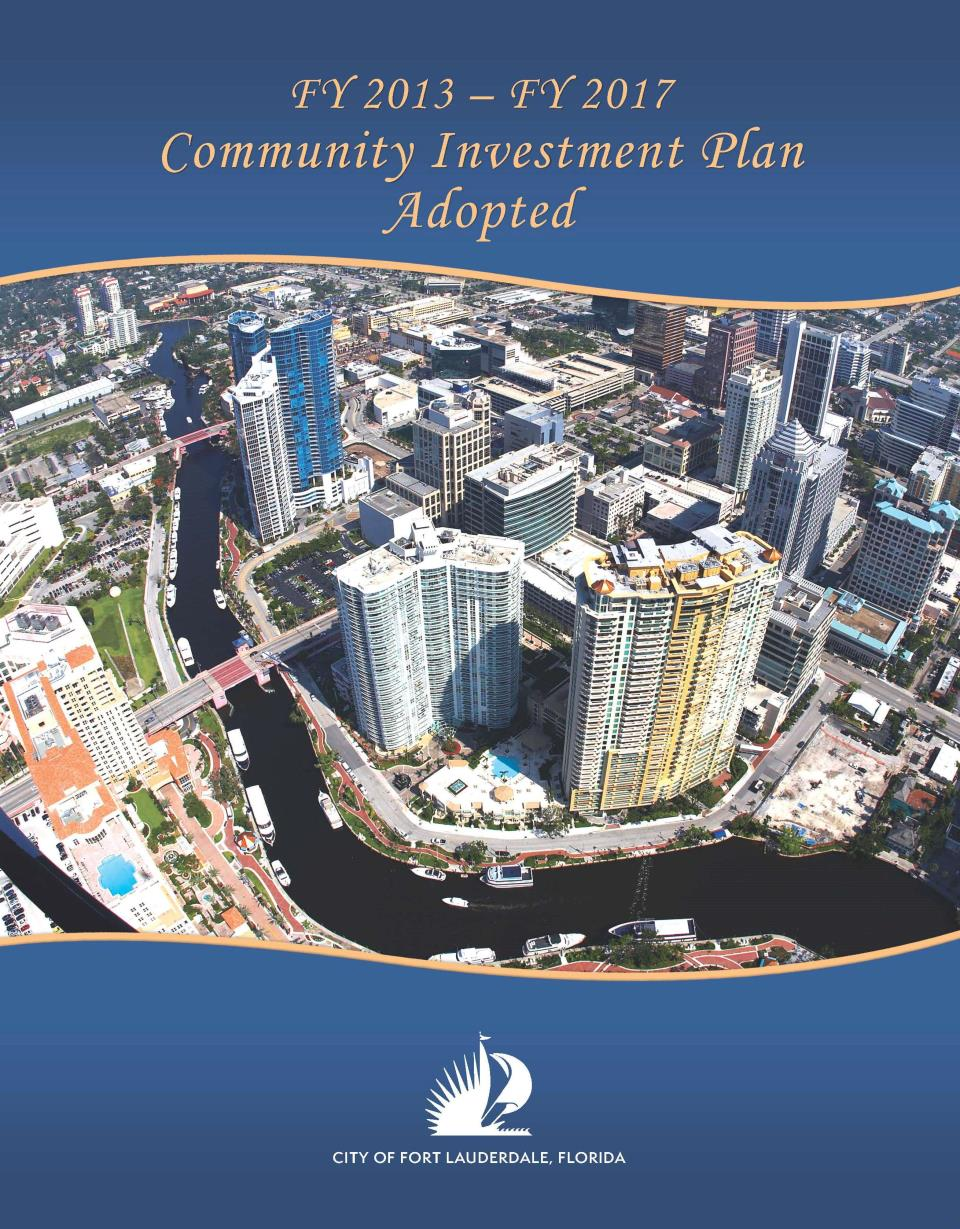 Adopted FY 2012 - 2017 Community Investment Plan