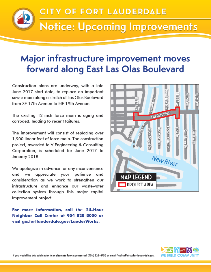 Las Olas Sewer Project 052317