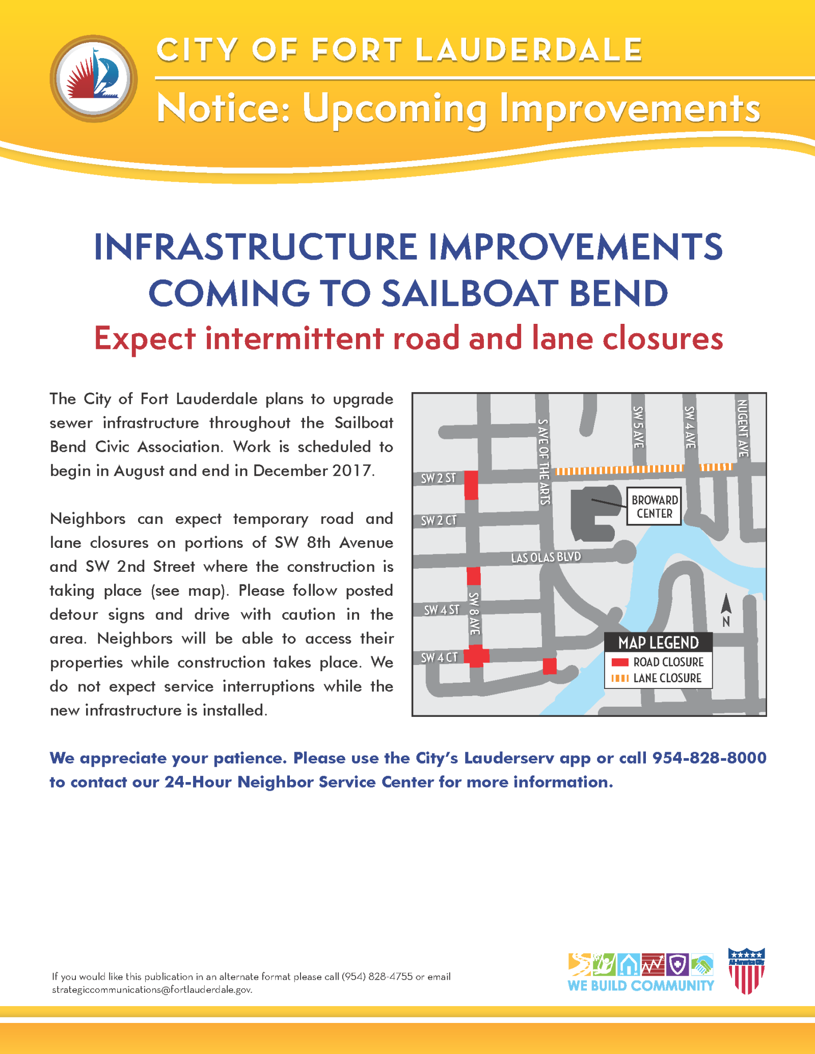 Sailboat Bend Construction Flyer