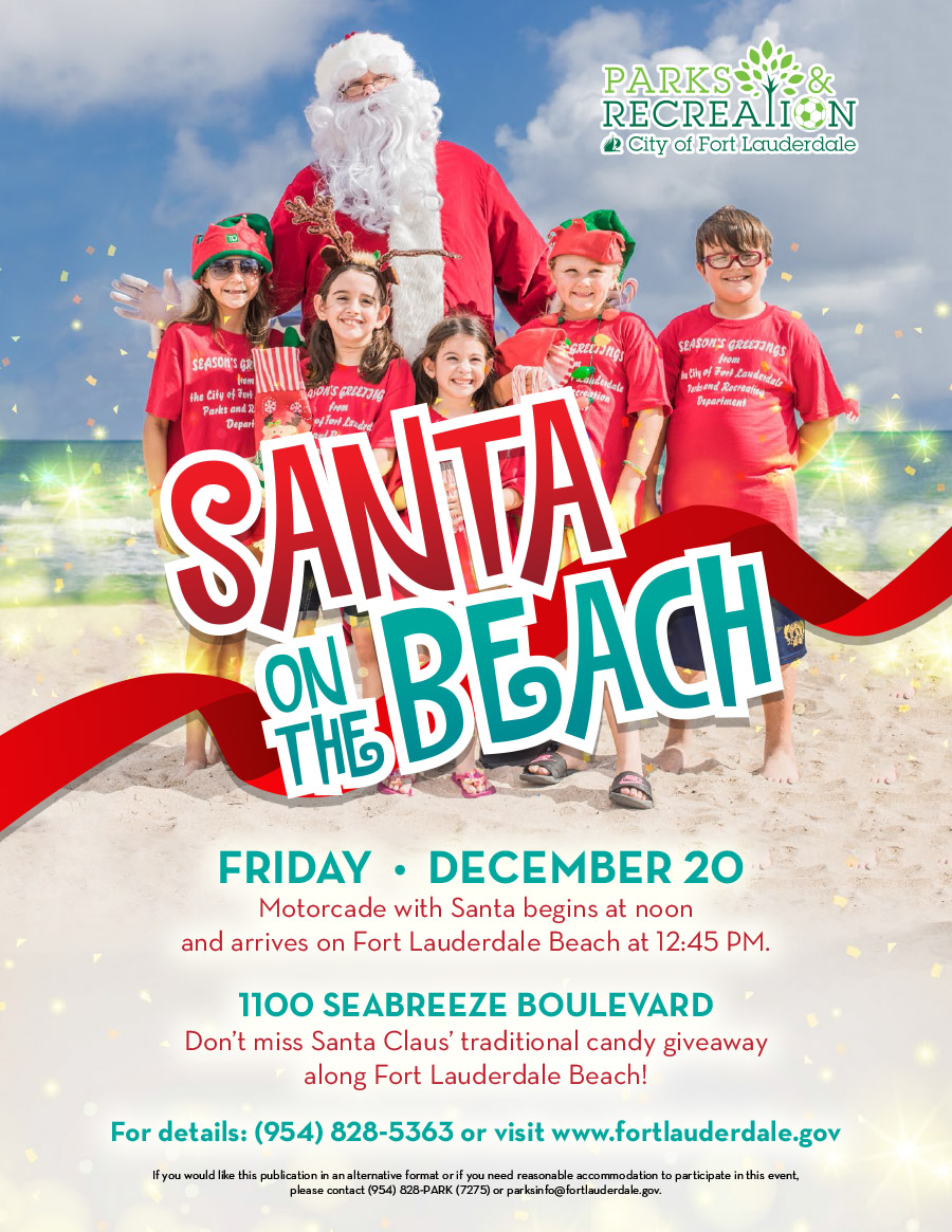 Santa on the Beach Flyer