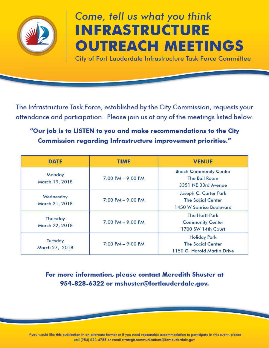 Infrastructure Task Force Meetings_flyer_2-8-18