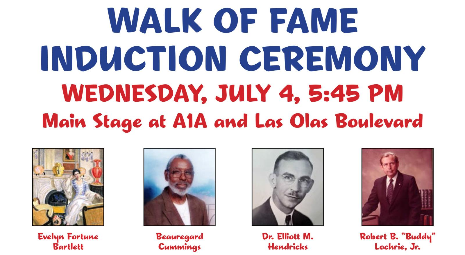 Small Walk of Fame Induction Ceremony 07-04-18