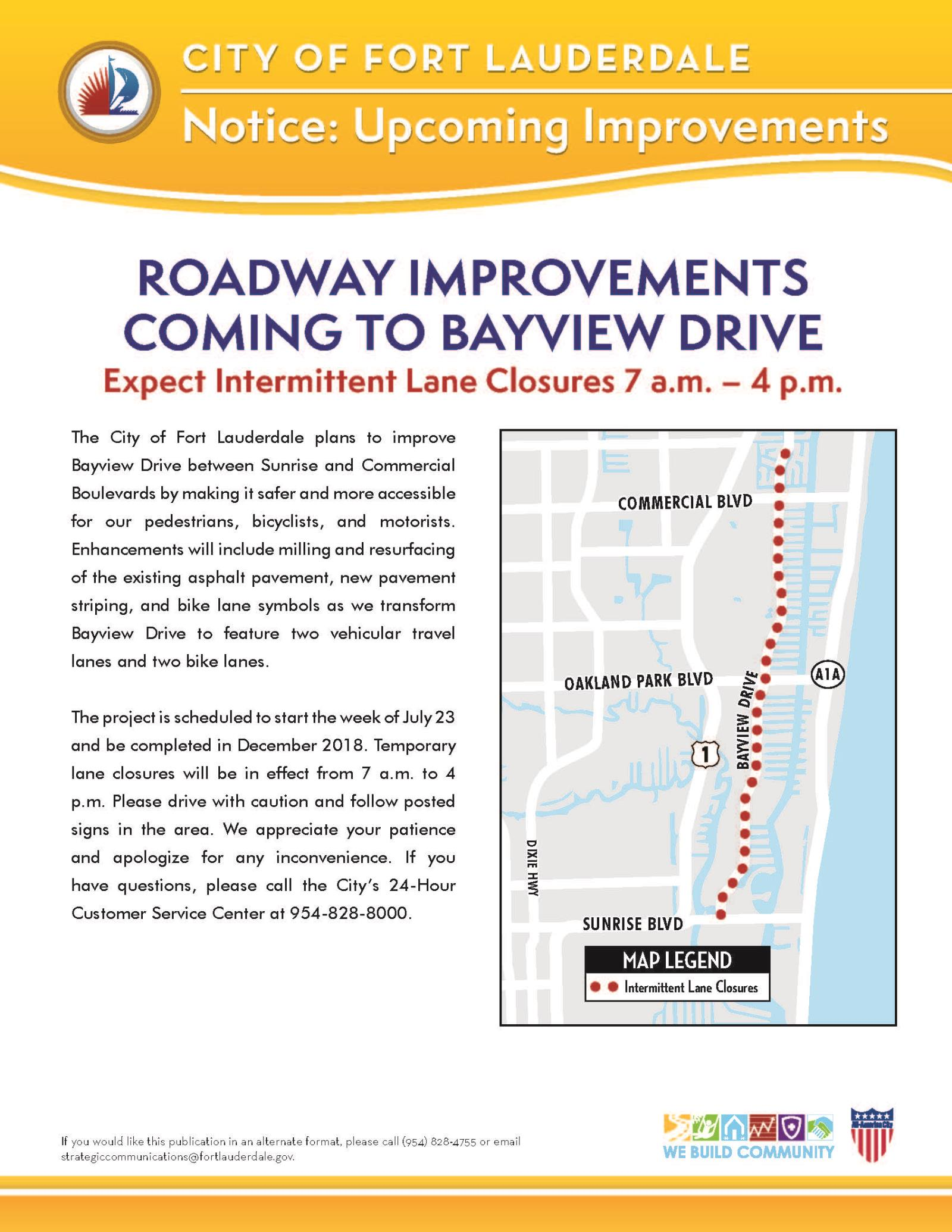 Bayview Drive Construction Flyer