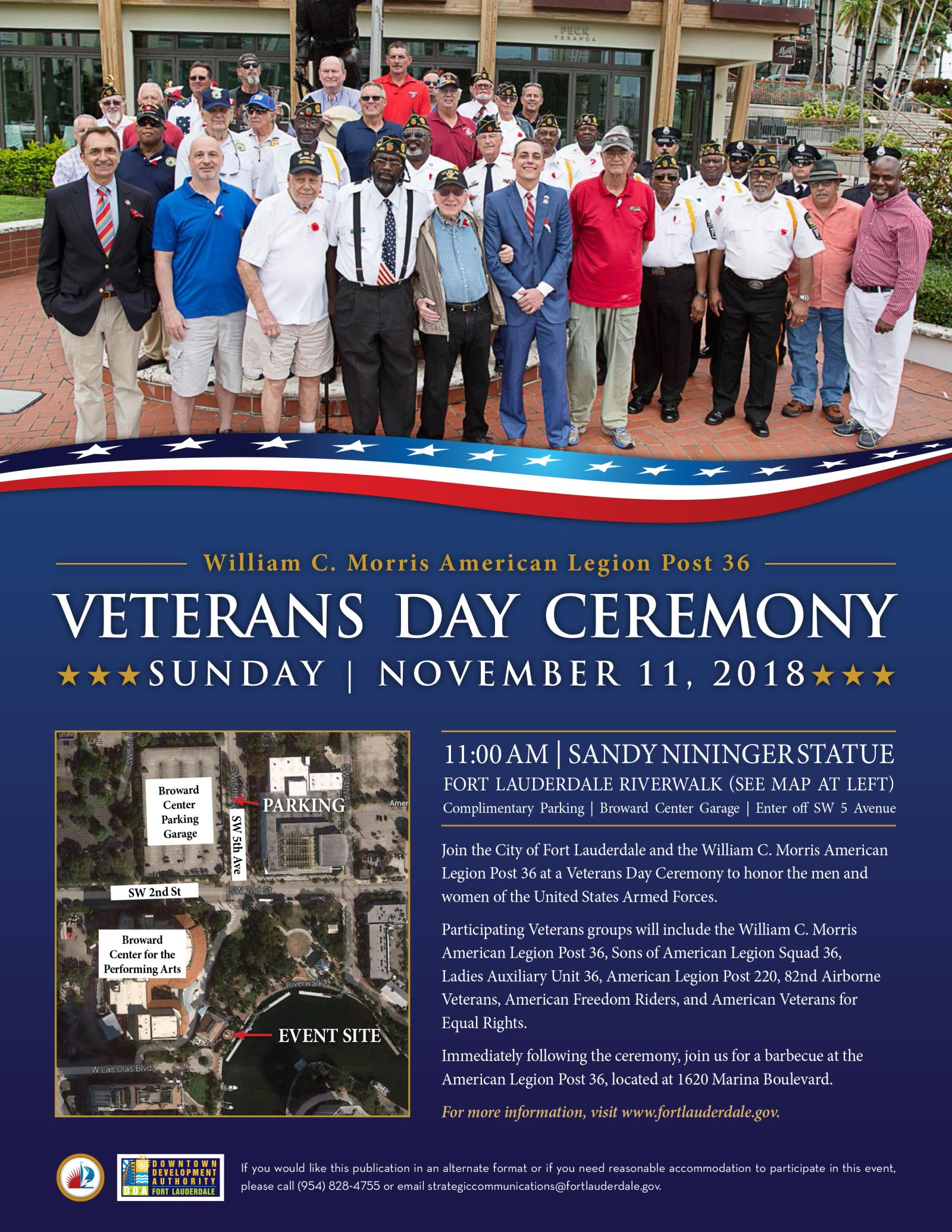 2018 Veterans Day Flyer and Map-1