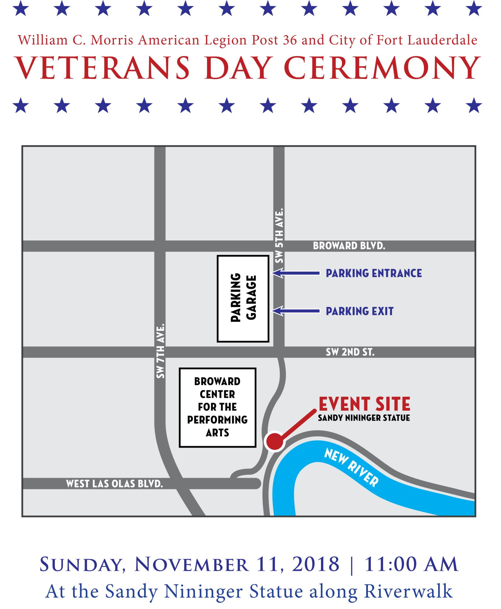 2018 Veterans Day Flyer and Map-2