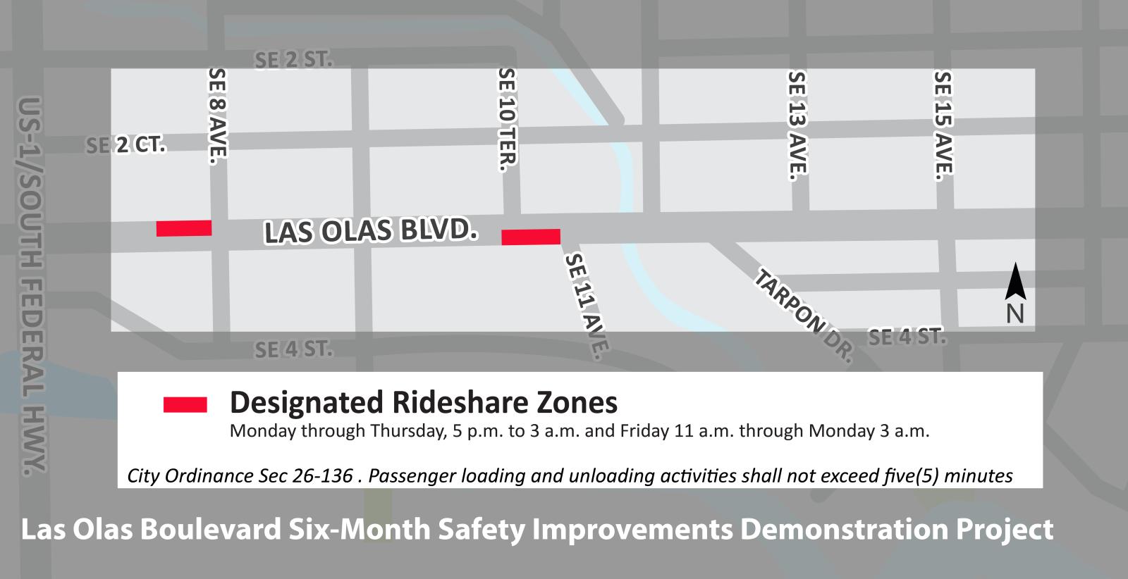 City of Fort Lauderdale, FL : Designated Rideshare Zones