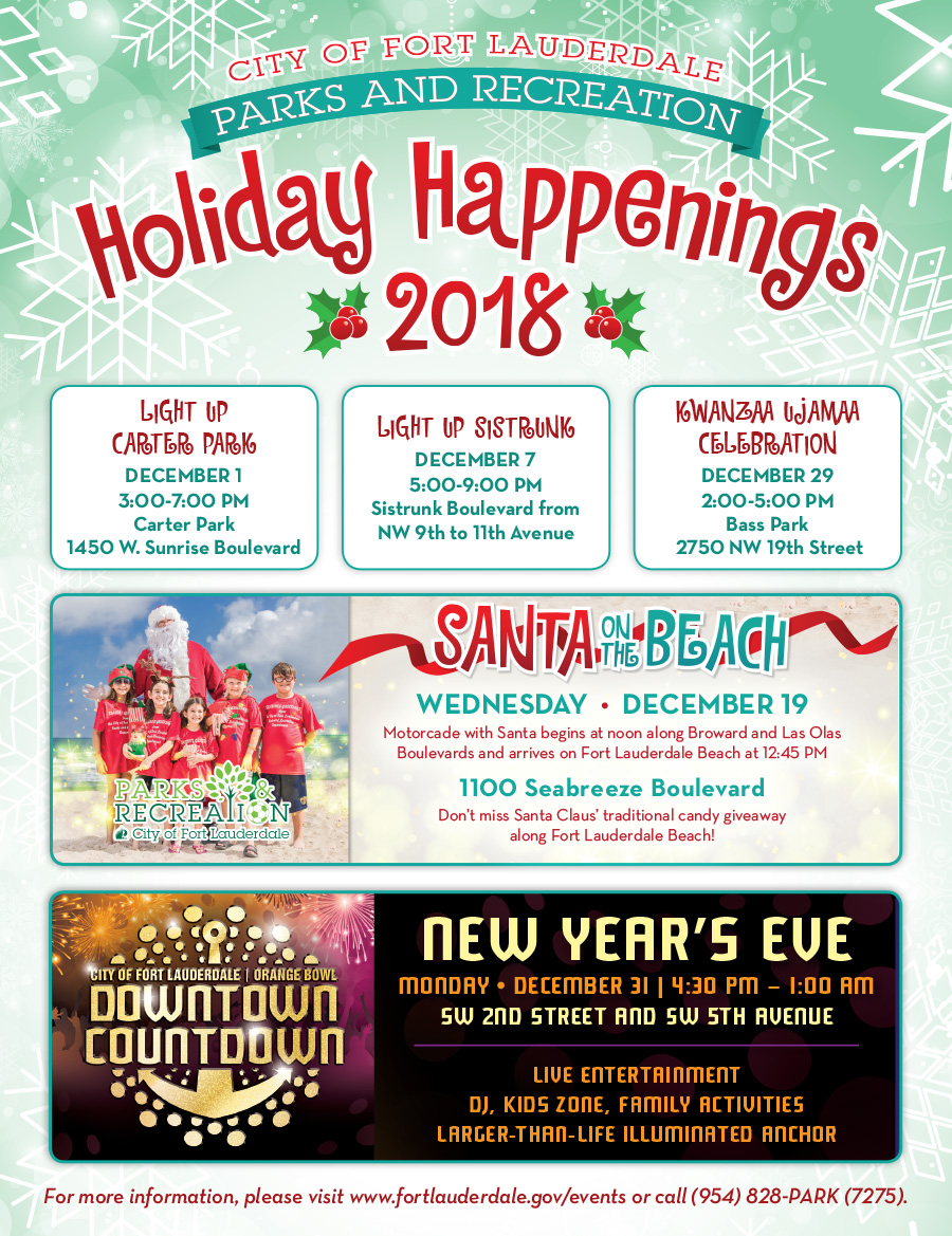 Holiday Happenings 2018