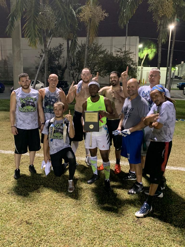 Mills Pond Park Flag Football Pros Division Champions Ruff Ryders