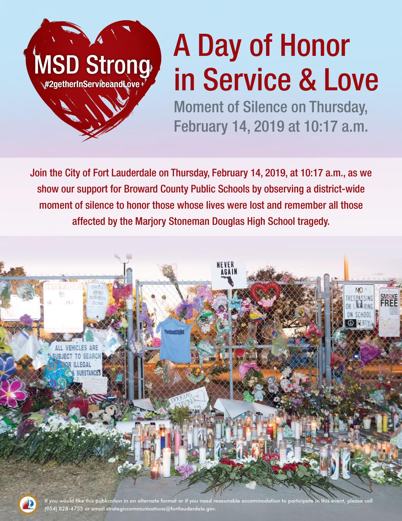 Fort Lauderdale Calendar February 2019 City of Fort Lauderdale, FL : Event Calendar : Moment of Silence