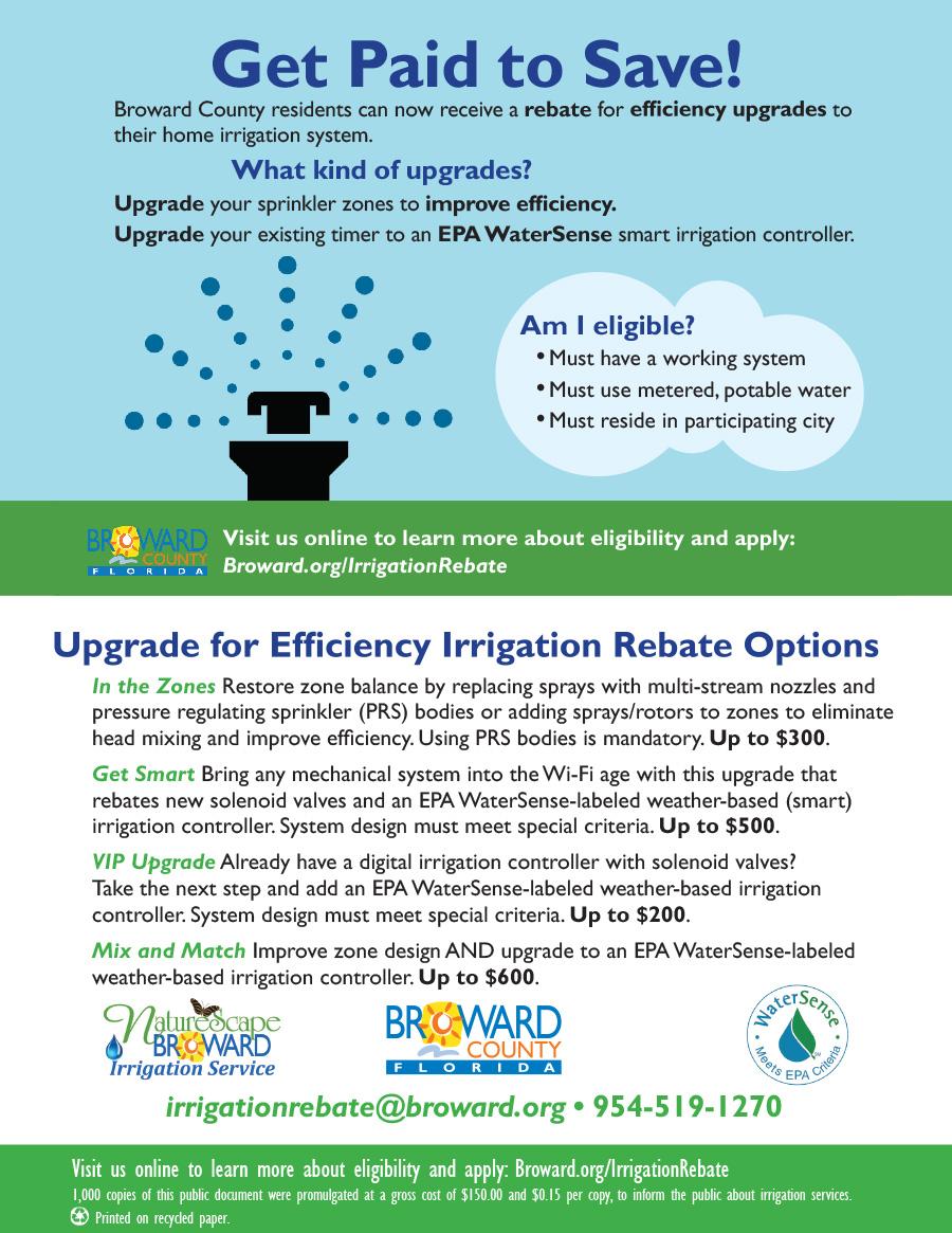 City of Fort Lauderdale, FL : City News : New irrigation rebate